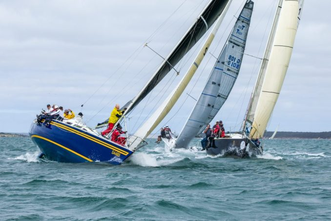 Strong winds greeted sailors on day one. Photos: Take 2 Photography