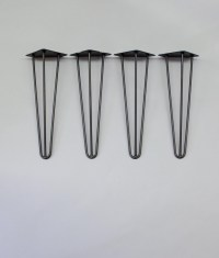 Hairpin Furniture Legs Black Steel for Coffee Tables