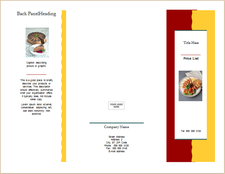 how to make a brochure on microsoft word 2003