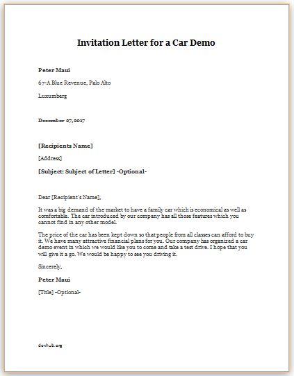 Invitation Letter Importance Of Invitation Letter In Processing - invitation letters