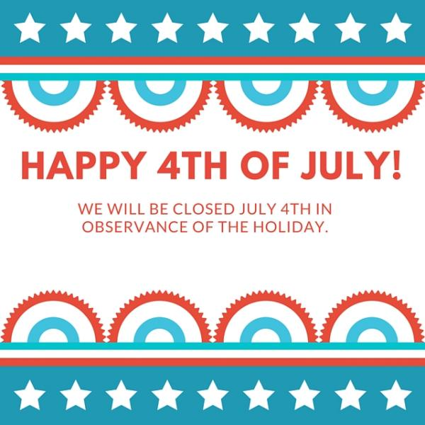July 4th Closed Sign Quotes