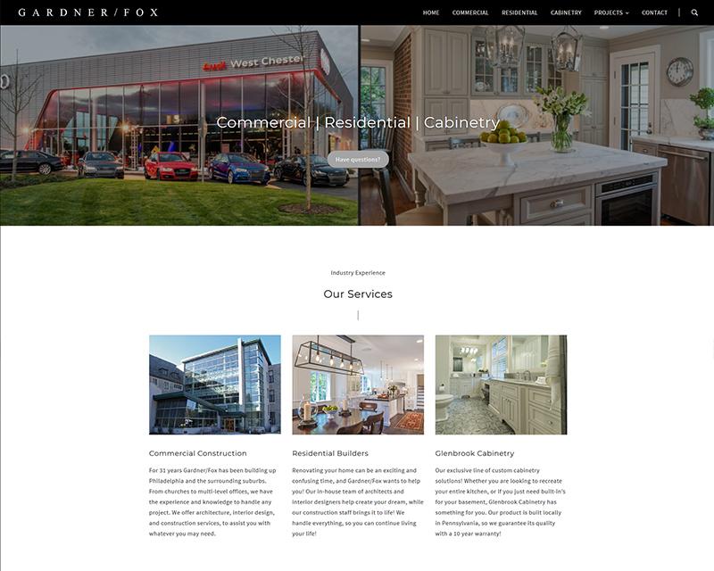 Gardner/Fox Construction - Website Design, Search Engine Marketing
