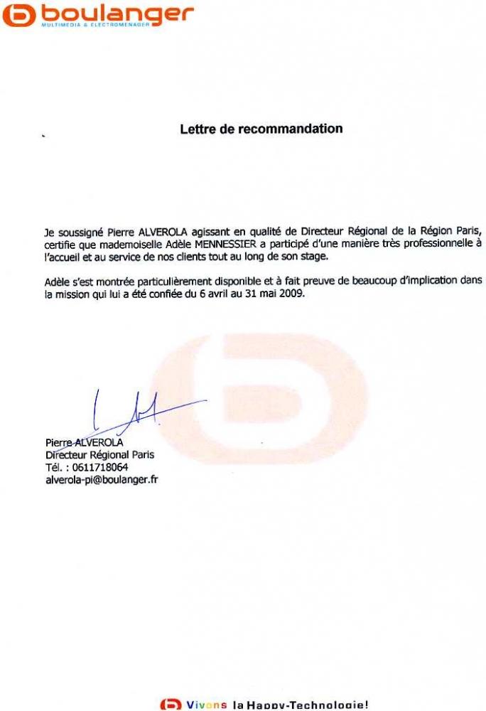 lettre presentation