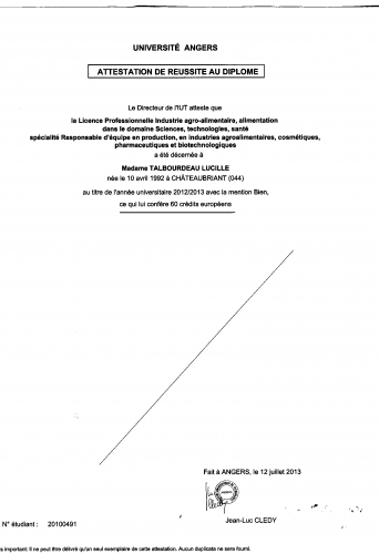 competences biologique cv
