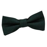 Boy's Greek Key Dark Green Bow Tie