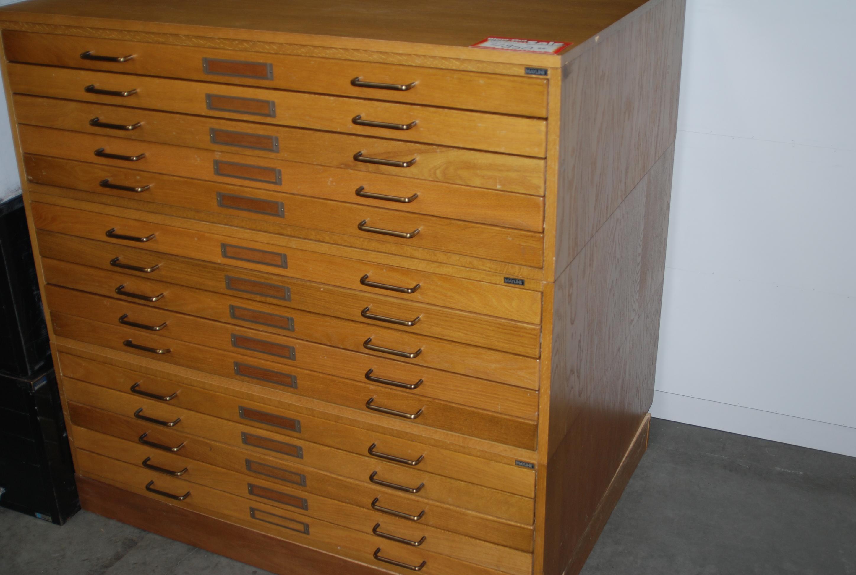 Wood blueprint cabinet nagpurentrepreneurs flat file cabinets malvernweather Image collections