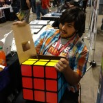 On Friday Alex helped at the table and solved the Rubix Cube.