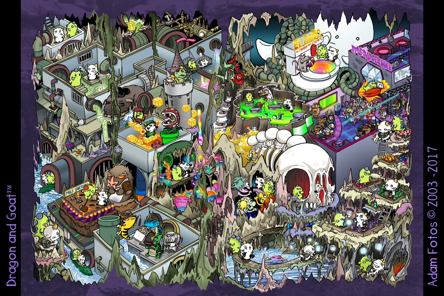 Chicago Underground Spread from the Next Dragon and Goat book: Thyme Bandits!