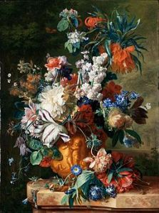 Bouquet of Flowers by Jan van Huysun, 1724