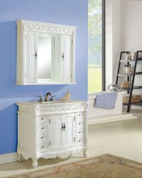 Tuscany 42 Antique White with Matching Medicine Cabinet ...