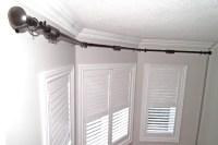 Double Curtain Rod For Bay Window. DIY Bay Window Curtain ...