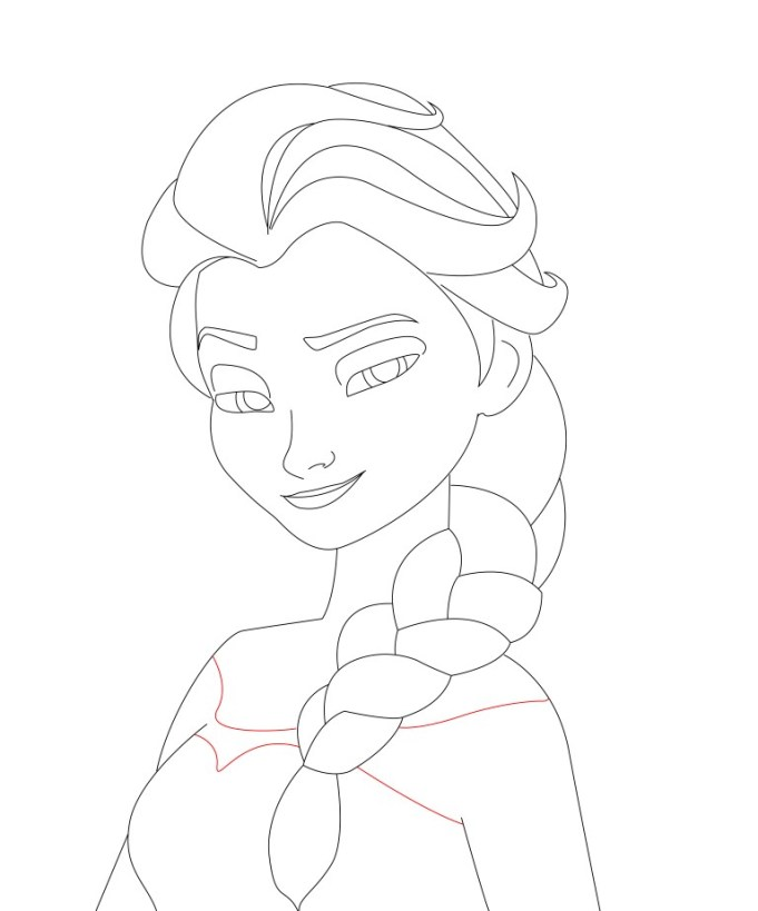 How to draw elsa from frozen draw central how to draw elsa frozen 14 voltagebd Image collections
