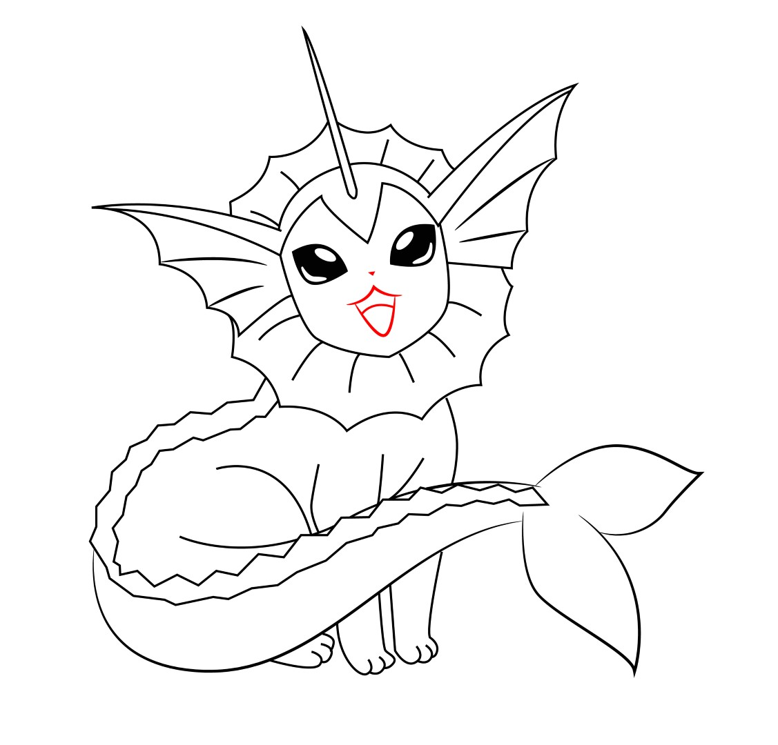 pokemon vaporeon coloring pages - photo#31