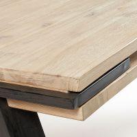 Table  manger design industriel bois massif et mtal ...