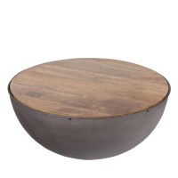 Table basse ronde contemporaine Hockey - Drawer