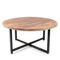 Table basse ronde bois et mtal 80 Dock - Drawer