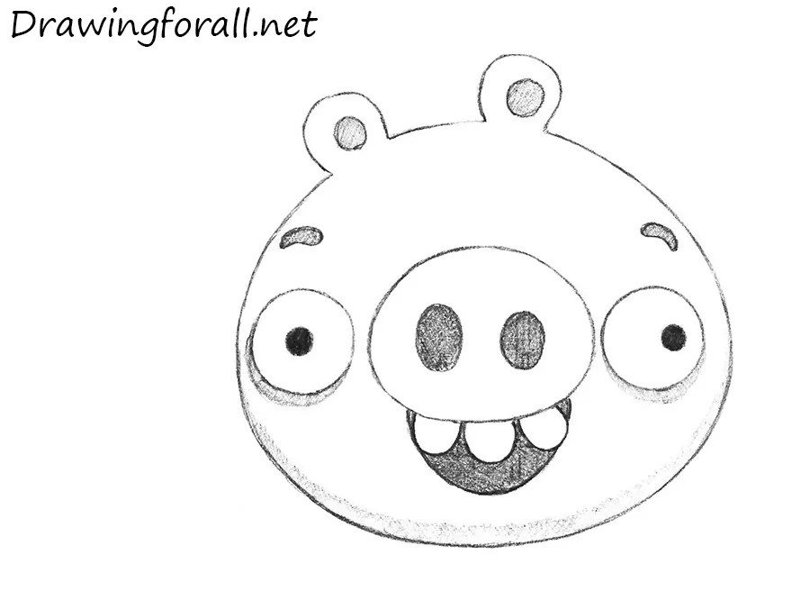 How to Draw Pig from Angry Birds Drawingforallnet