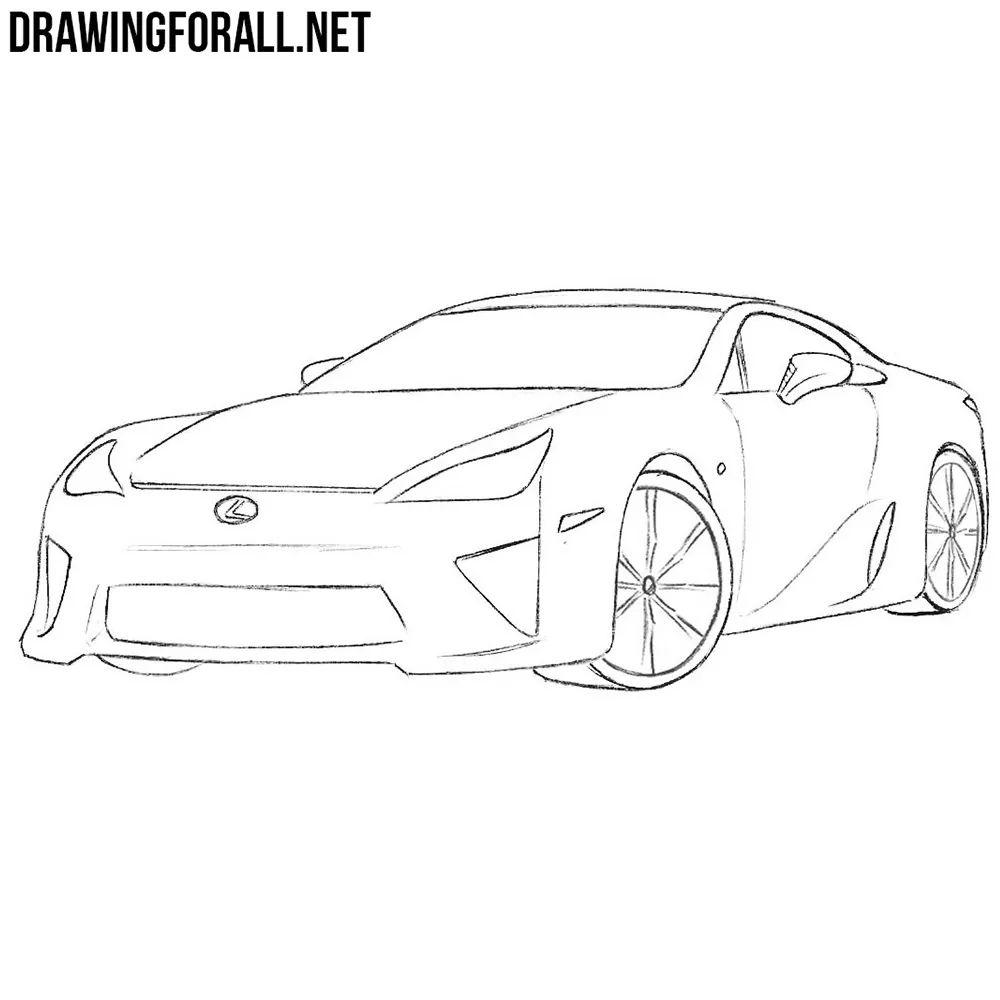lexus car sketch
