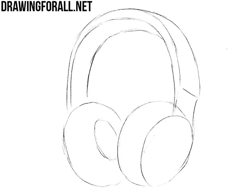 How to Draw Headphones Drawingforallnet