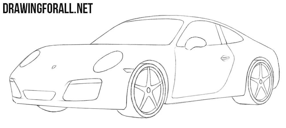 How to Draw a Porsche Easy Drawingforallnet