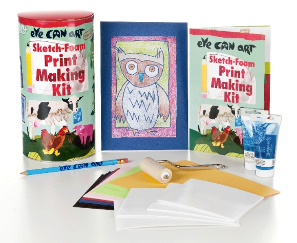 Printmaking For Kids - From Drawing to Print with Eye Can Art!