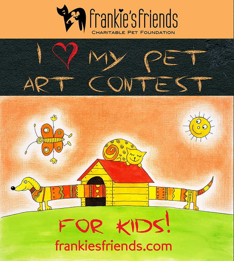 "New ""Valentine"" Art Contest For Kids:  I (Heart) My Pet Art Contest"
