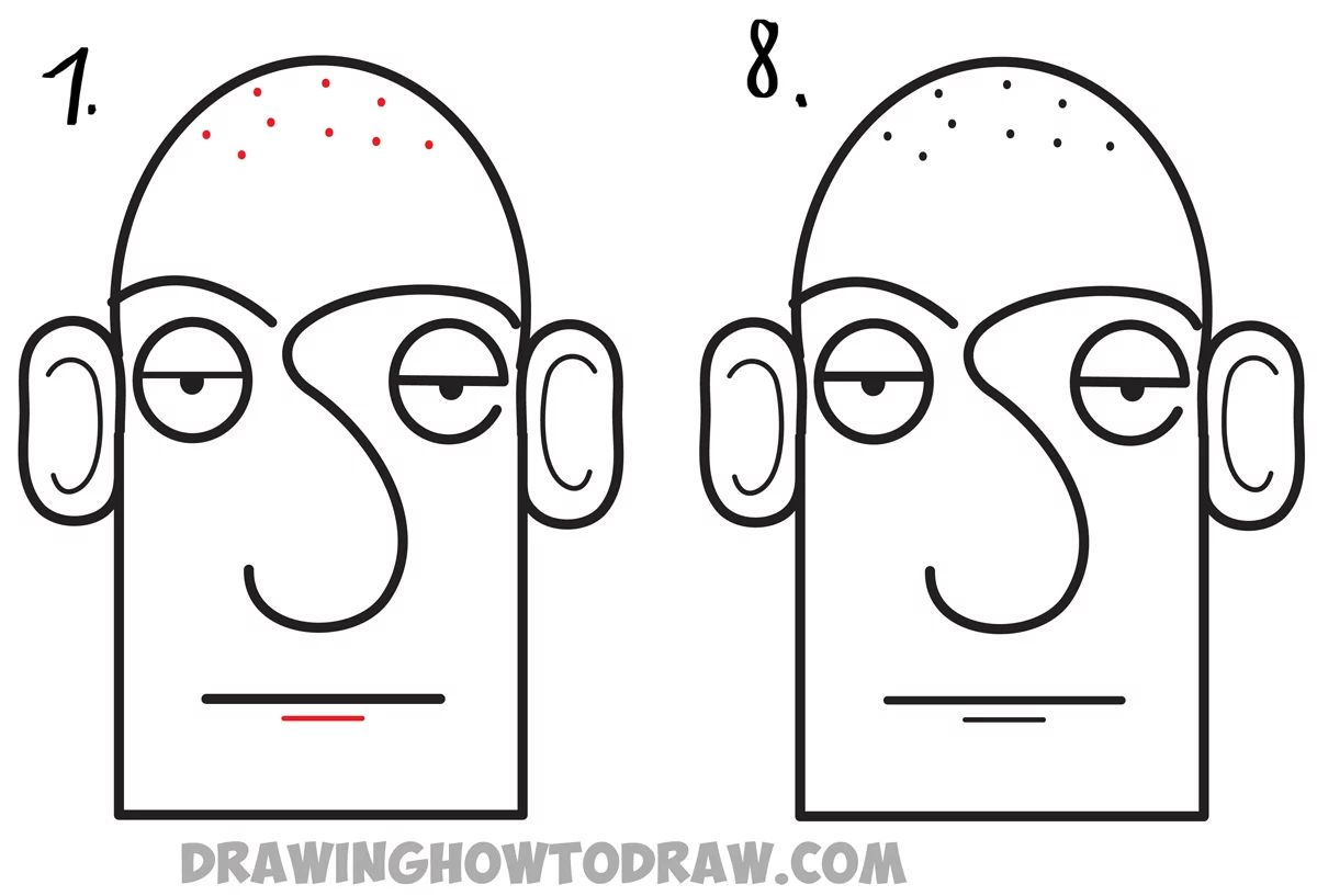 Learn How To Draw A Cartoon Face Easiest Way For Kids To Learn How To Step