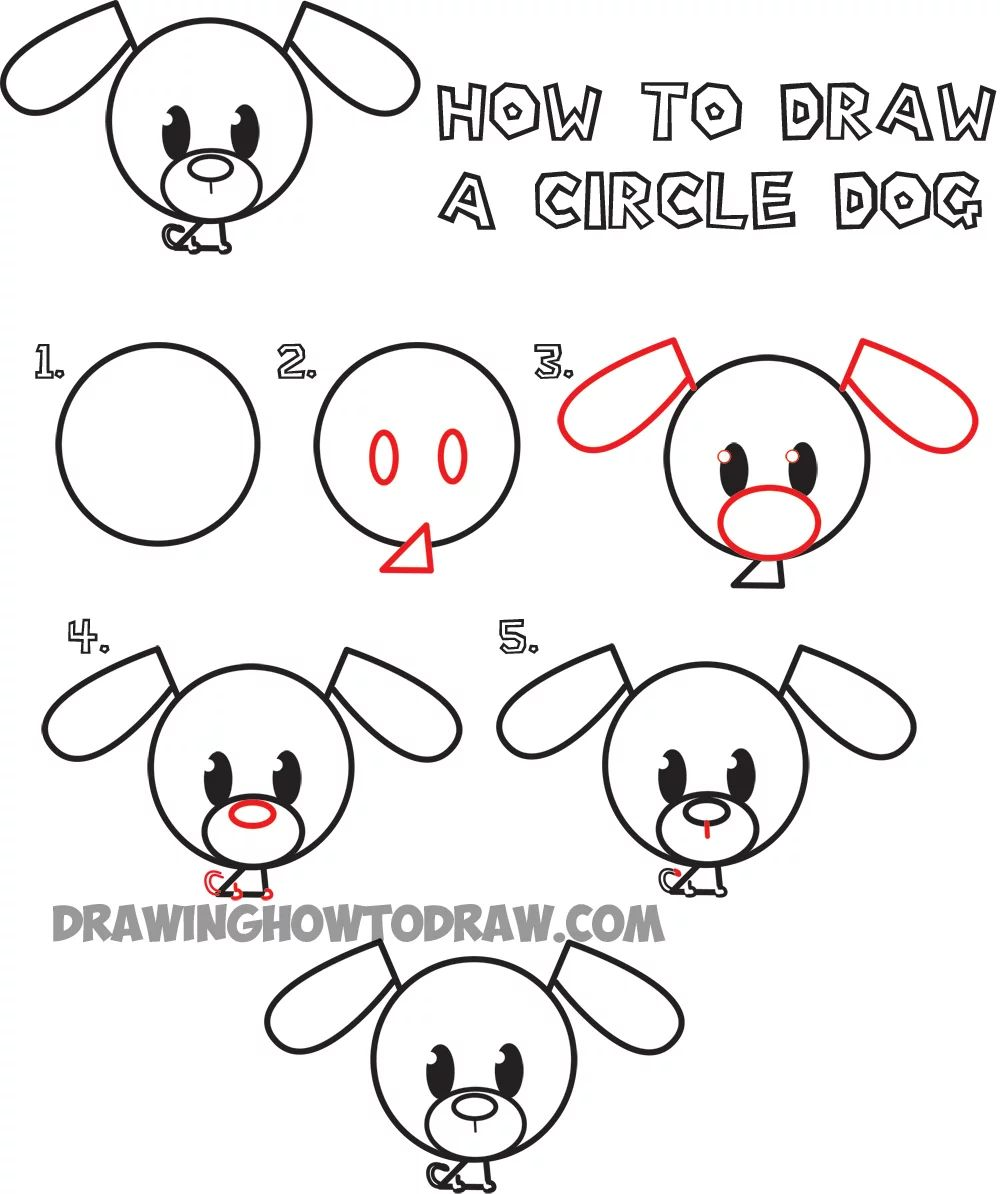 How To Draw A Cartoon Dog Head Step By Step How To Draw A Dog Growling