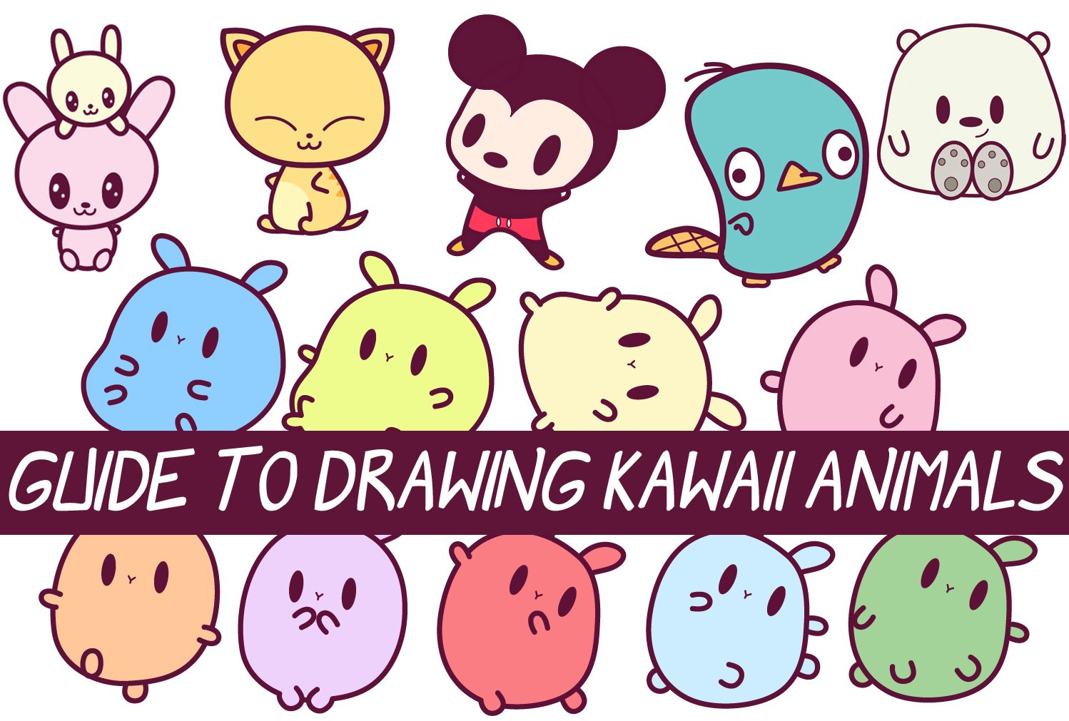 Cute Stitch On Side Wallpaper Easy Guide To Drawing Kawaii Characters Part 2 How To