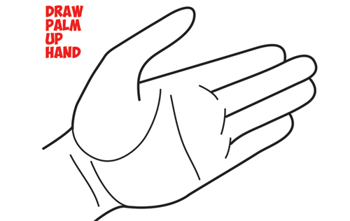 How to Draw Hands Open Palm - Drawing Cartoon Open Palmed Hands