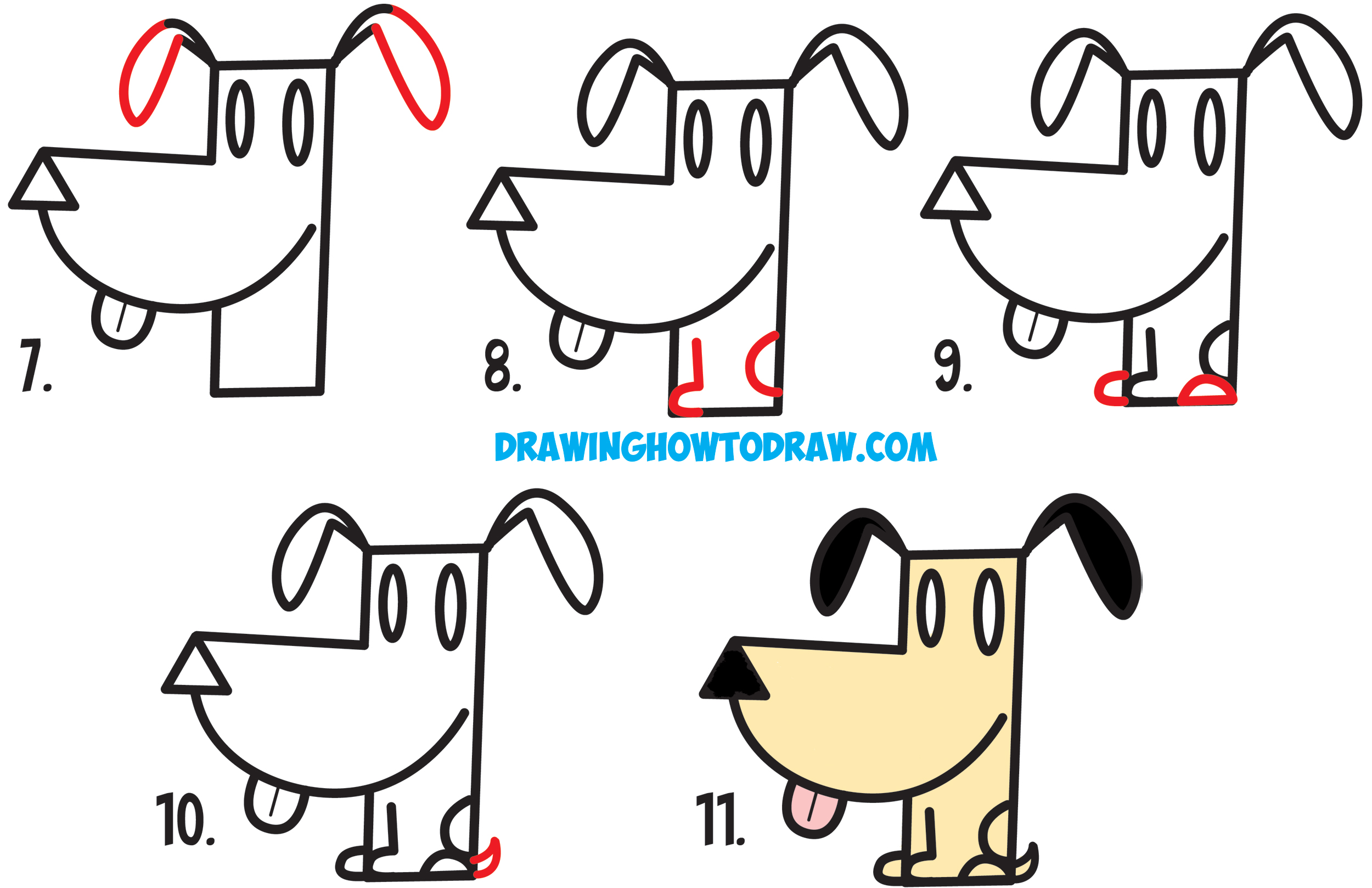 How To Make A Cartoon Dog Learn How To Draw A Cartoon Dog From An
