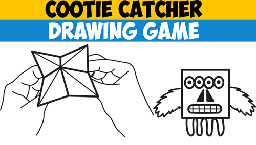 cootie catcher template Archives - How to Draw Step by Step Drawing