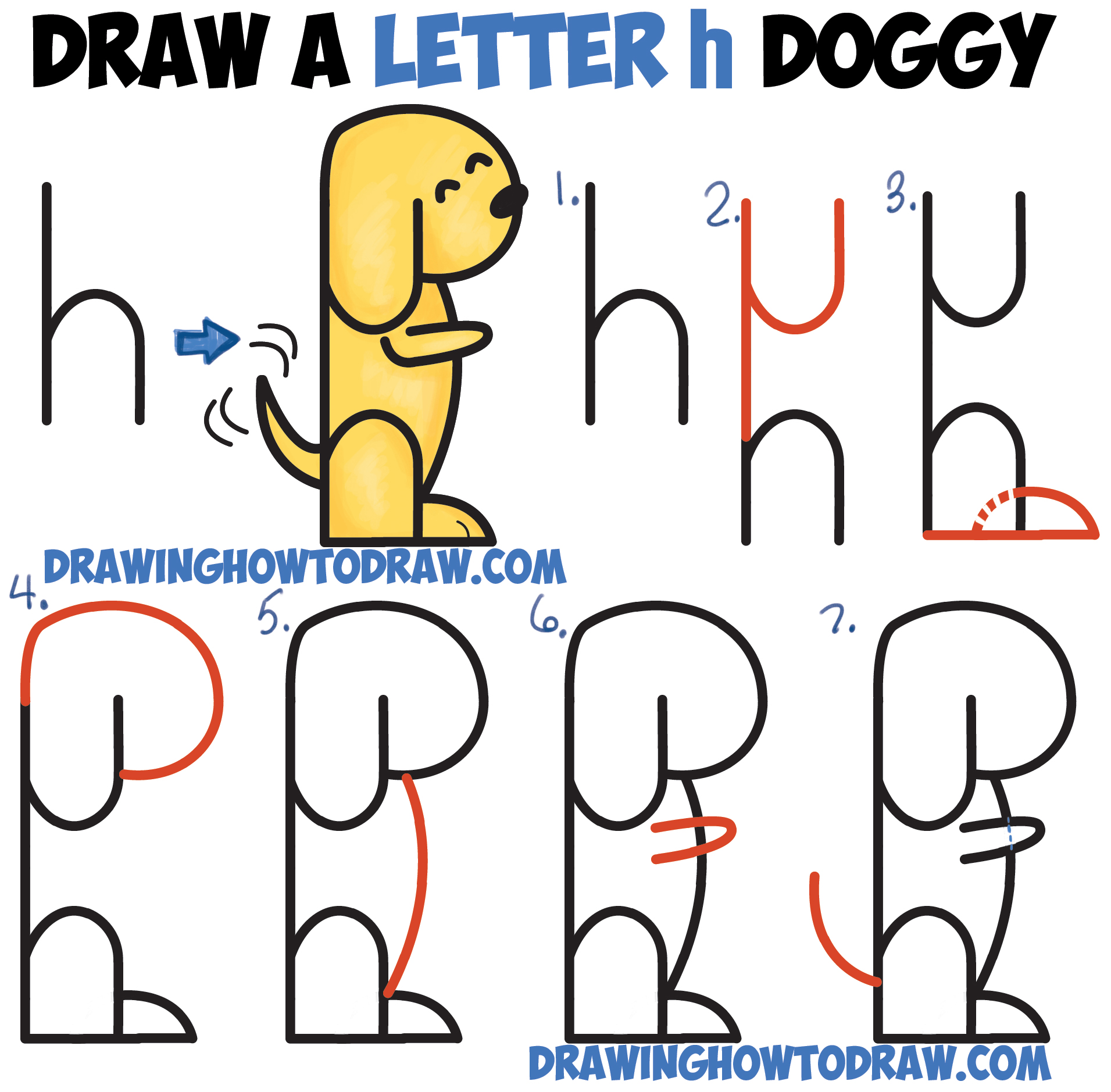 How To Draw A Cartoon Dog Step By Step Easy