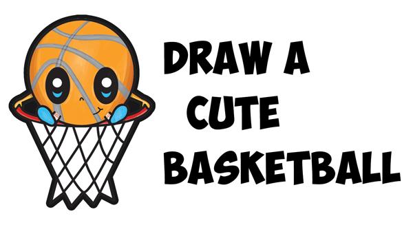 How to Draw a Cartoon Basketball Guy (Cute Kawaii Chibi Style) in