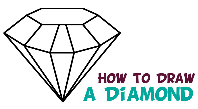 How to Draw a Diamond Easy Step by Step Drawing Tutorial for Kids