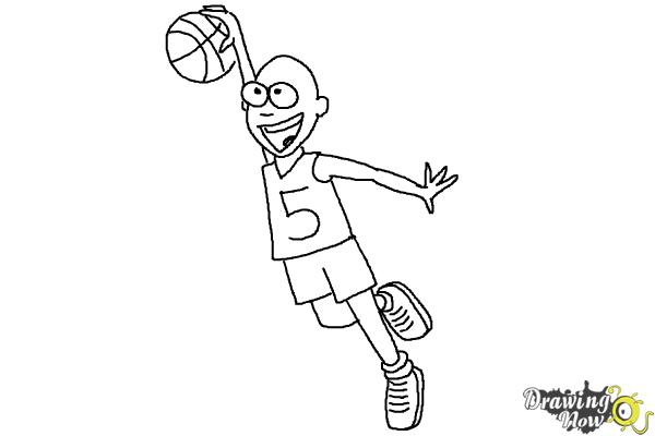how to draw a basketball player - Trisamoorddiner