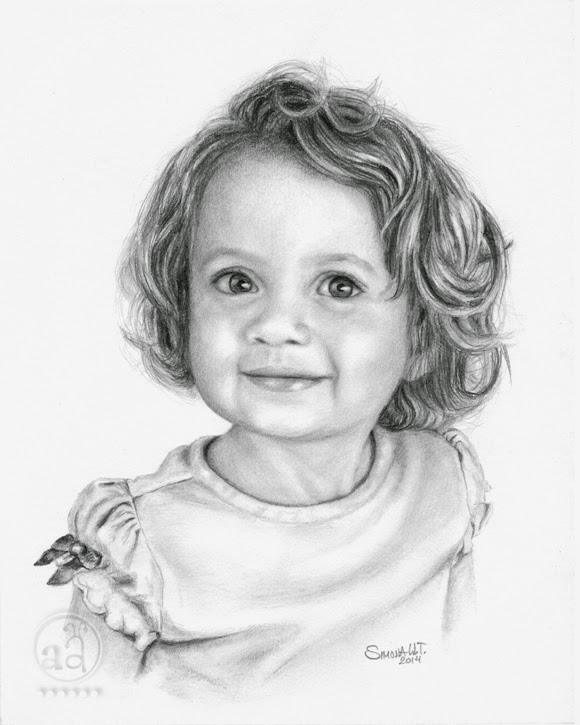 Little Girl Drawing, Pencil, Sketch, Colorful, Realistic Art Images
