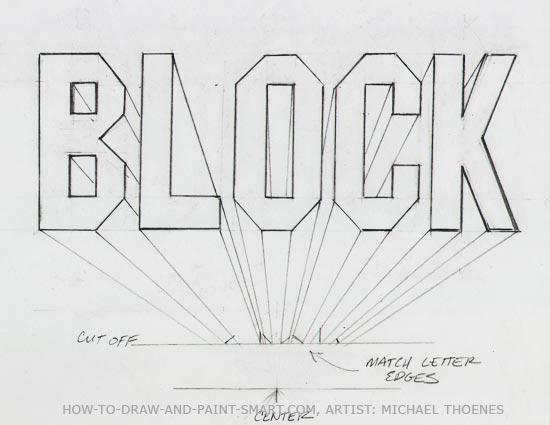 Draw 3D Block Letters