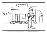 Post Office Cartoon Drawing | Cartoonwjd.com