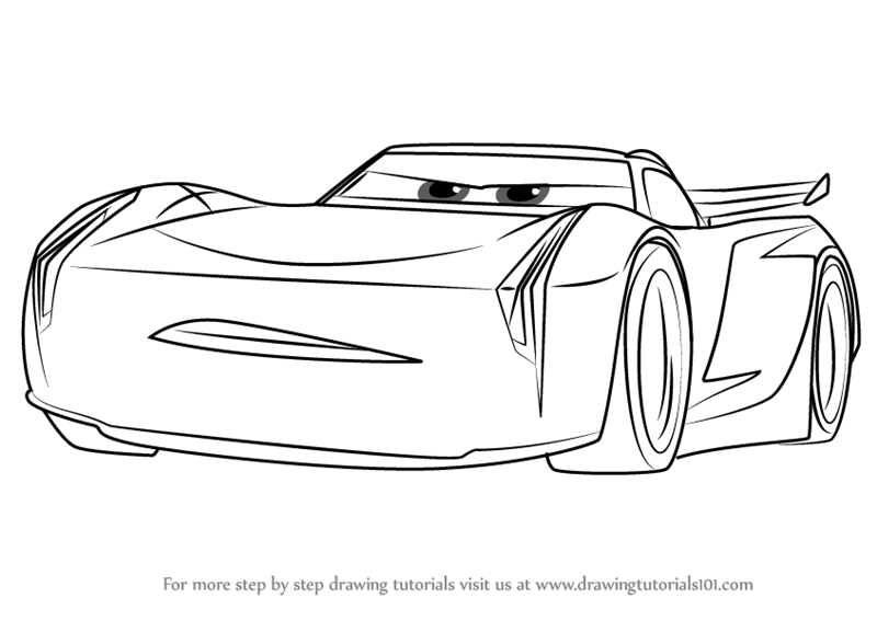 Learn How To Draw Jackson Storm From Cars 3 Cars 3 Step