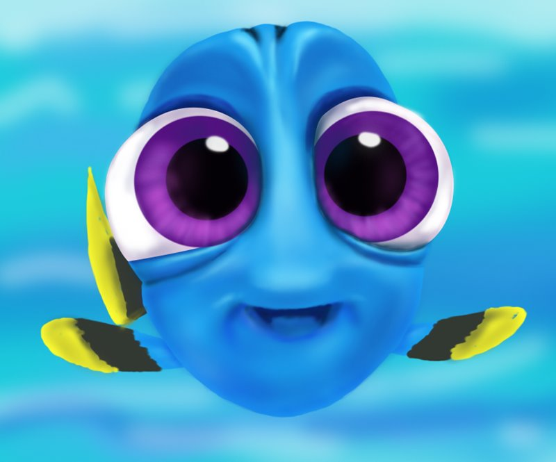 Cute Elephant Design Wallpaper Learn How To Draw Baby Dory From Finding Dory Finding