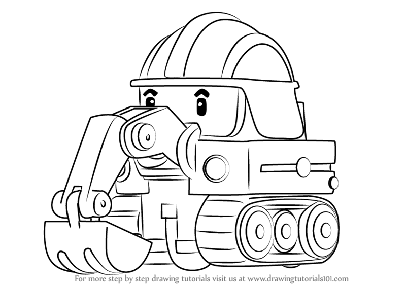 robocar poli coloring pages amber for kids printable free auto2006 F150 Radio Replacement Http Wwwfordmuscleforumscom Electrical #18