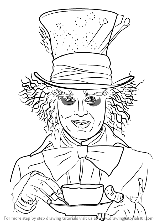 learn how to draw mad hatter dc comics step by step drawing tutorials