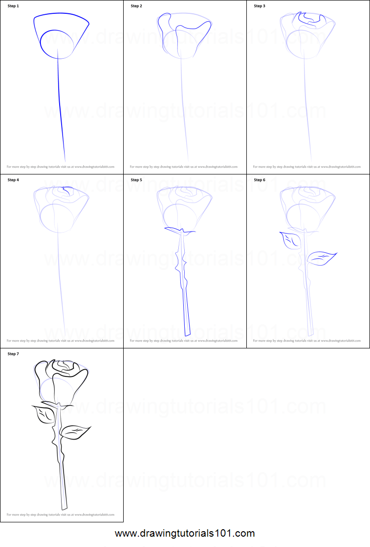How To Draw A Rose Easy How To Draw A Rose Step By Step With Pictures