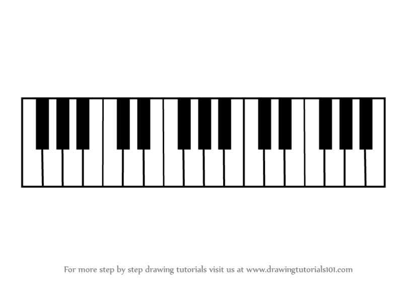 labeled diagram of a piano keyboard