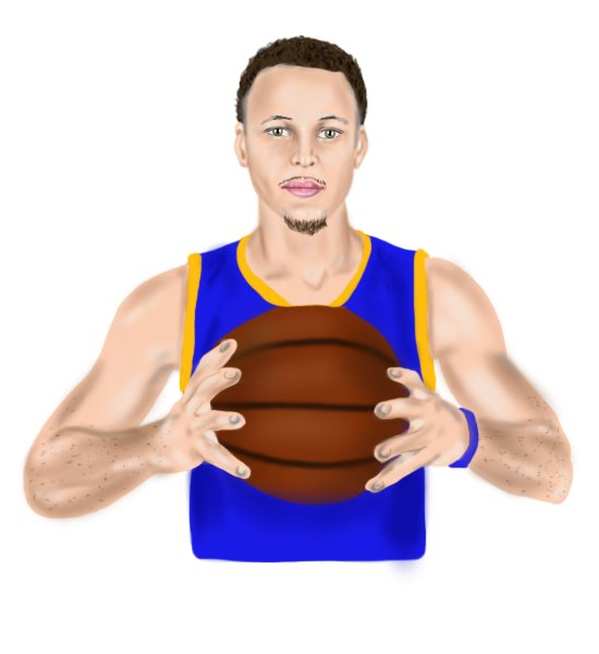 Learn How to Draw Stephen Curry (Basketball Players) Step by Step