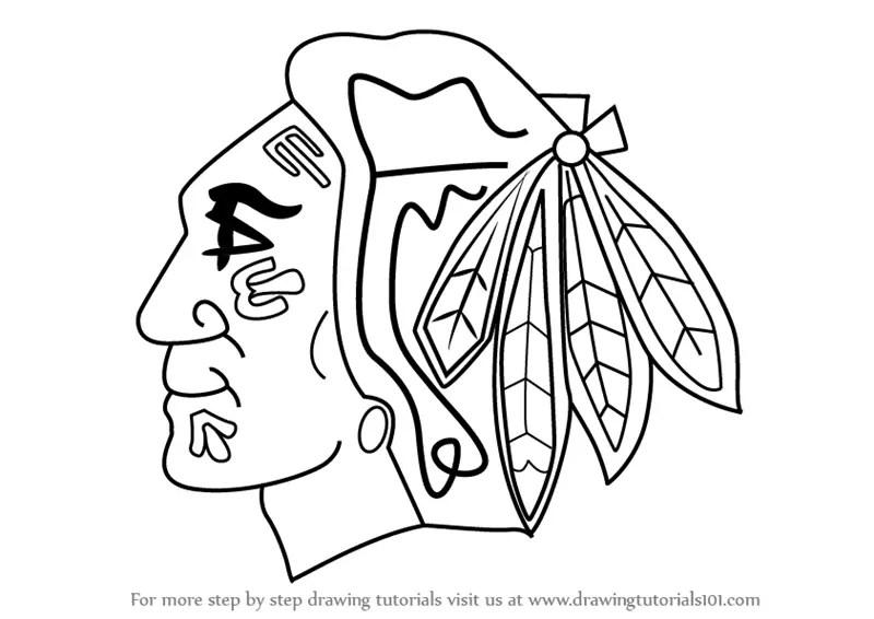 Chicago Blackhawks Coloring Pages - Eskayalitim