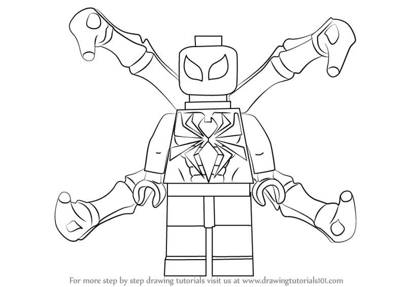 Lego Deadpool Coloring Pages - Democraciaejustica