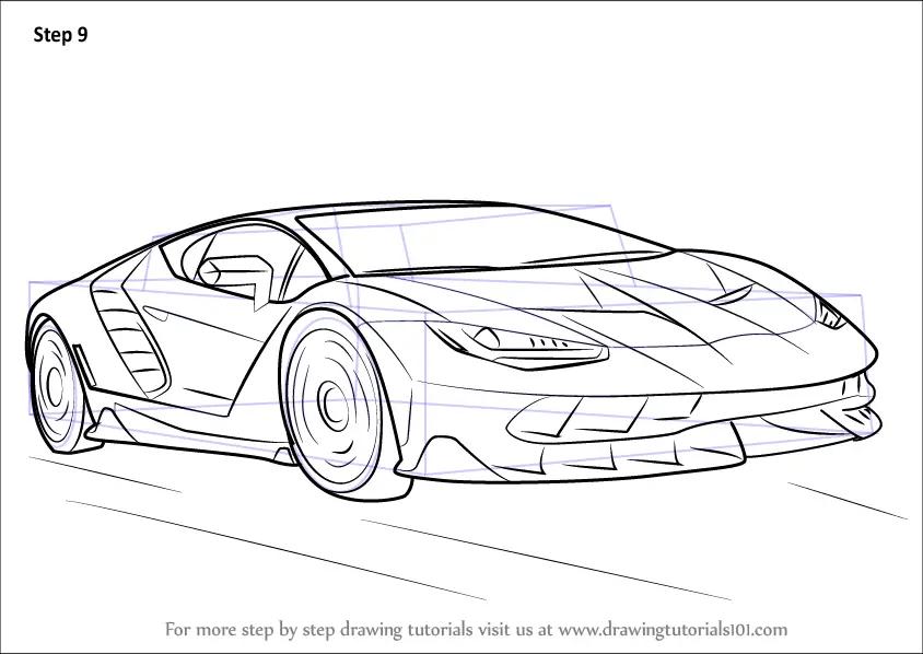 How To Draw Lamborghini Centenario Side View Auto Electrical