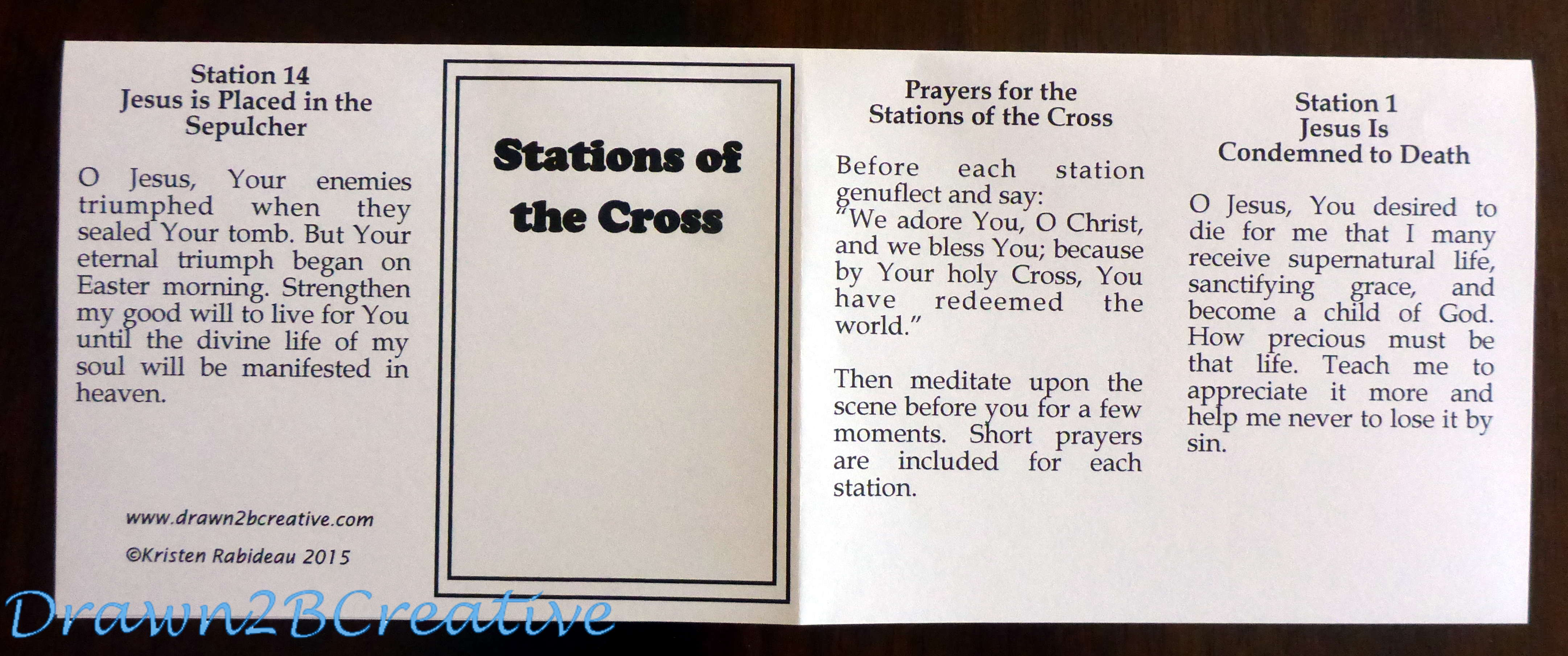Breathtaking image regarding stations of the cross prayers printable